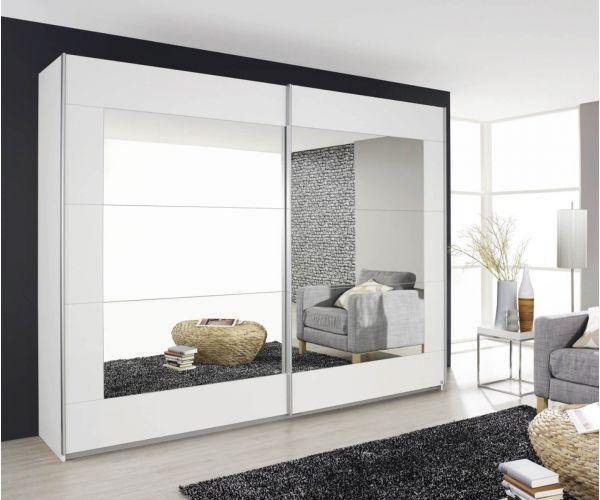 Rauch Alegro Silk Grey 2 Sliding Mirror Door Wardrobe (W271cm)