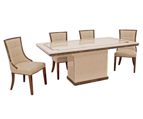 Vida Living Alfredo Small Dining Table with 4 Chairs