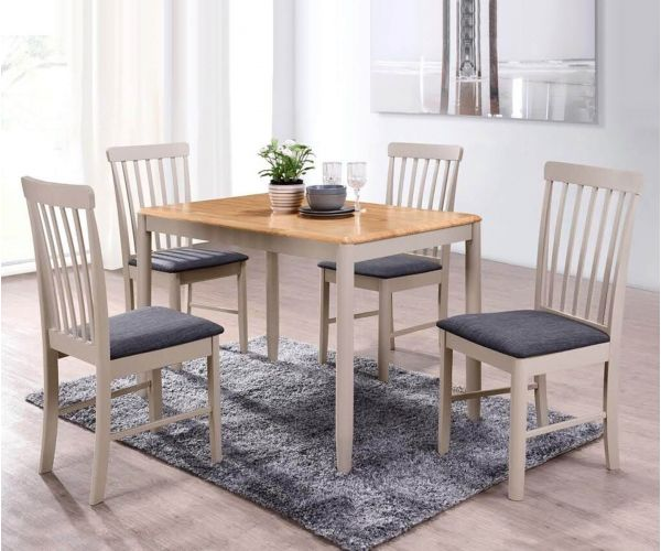 Annaghmore Altona Oak and Stone Grey Dining Table with 4 Chairs