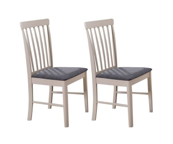 Annaghmore Altona Stone Grey Painted Dining Chair in Pair