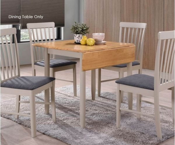 Annaghmore Altona Oak and Stone Grey Square Drop Leaf Dining Table only