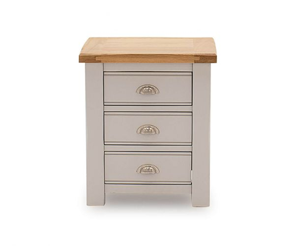 Vida Living Amberly Painted 3 Drawer Bedside Table