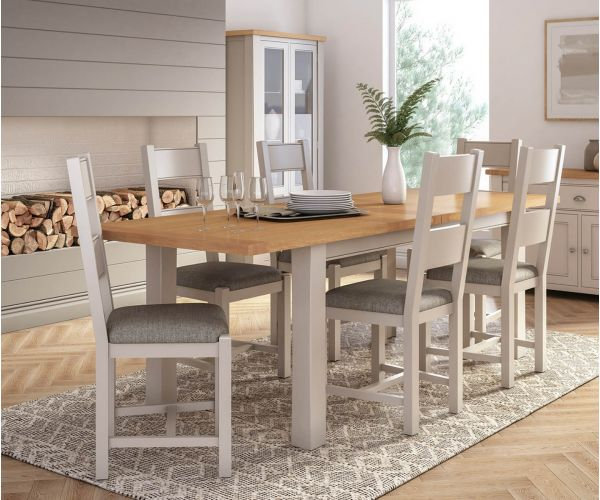 Vida Living Amberly Painted Small Extending Dining Table with 6 Chairs