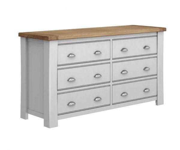 Vida Living Amberly Painted 6 Drawer Dressing Chest