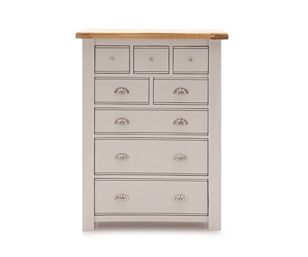 Vida Living Amberly Painted 8 Drawer Tall Chest