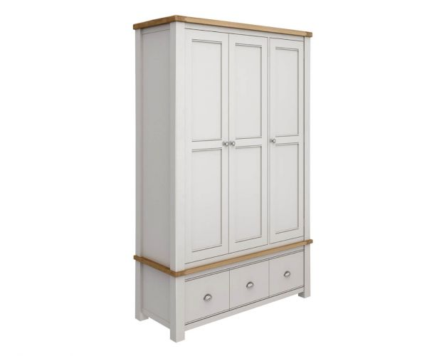 Vida Living Amberly Painted 3 Door Wardrobe