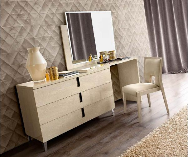 Camel Group Ambra Sand Birch Finish Large Vanity Dresser