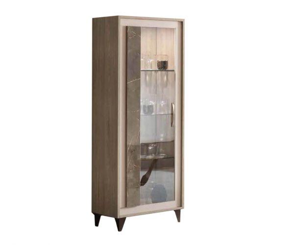 Arredoclassic Ambra Italian 1 Door Display Cabinet