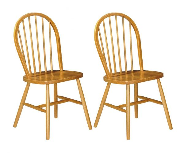 Annaghmore Hanover Spindle Back Dining Chair in Pair