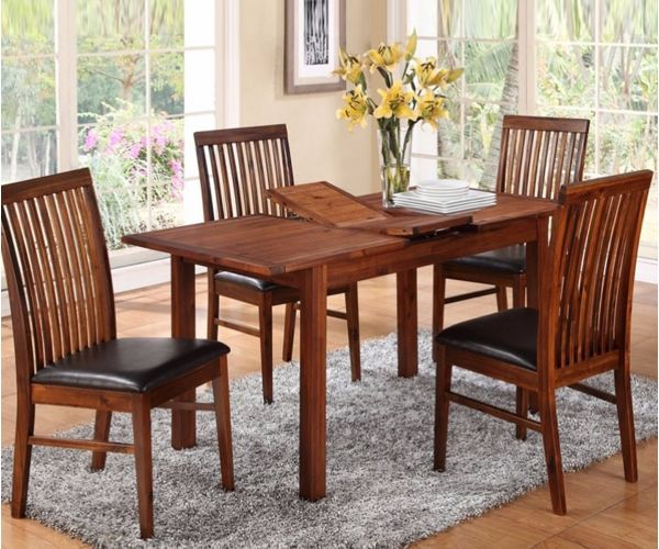 Annaghmore Hartford Acacia Small Extension Dining Set with Strathmore Chairs