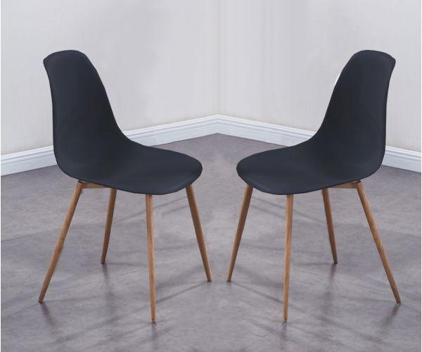 Annaghmore Milana Black Dining Chair in Pair