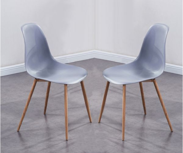 Annaghmore Milana Grey Dining Chair in Pair