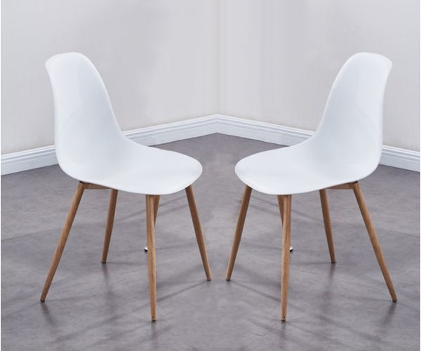 Annaghmore Milana White Dining Chair in Pair