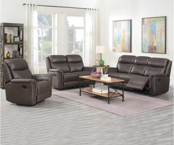 Annaghmore Portland Rustic Brown Fabric 3+1+1 Sofa Suite