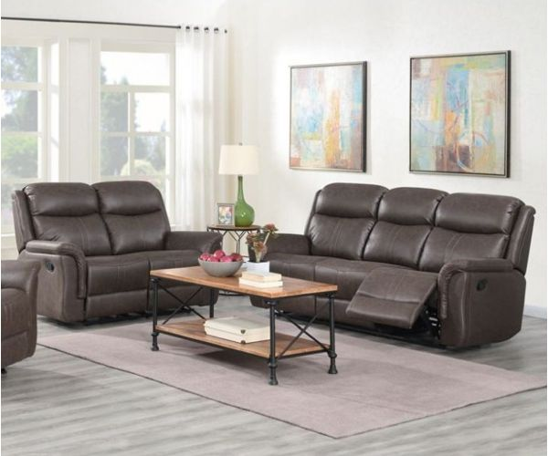 Annaghmore Portland Rustic Brown Fabric 3+2 Sofa Suite
