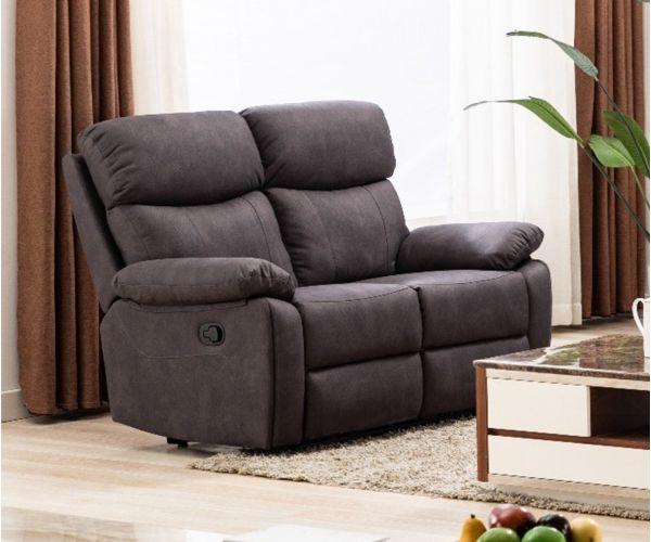 Annaghmore Prescot Grey Fabric Recliner 2 Seater Sofa