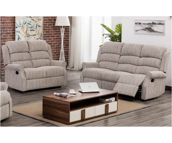 Annaghmore Windsor Latte Fabric Recliner 3+2 Sofa Suite