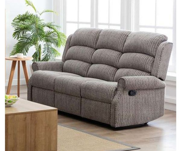Annaghmore Windsor Natural Fabric Recliner 3 Seater Sofa
