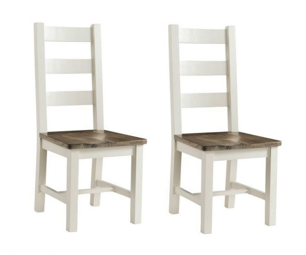 Annaghmore Santorini Painted Dining Chair in Pair