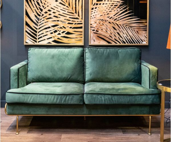 Arden Emerald Green Velvet 2 Seater Sofa