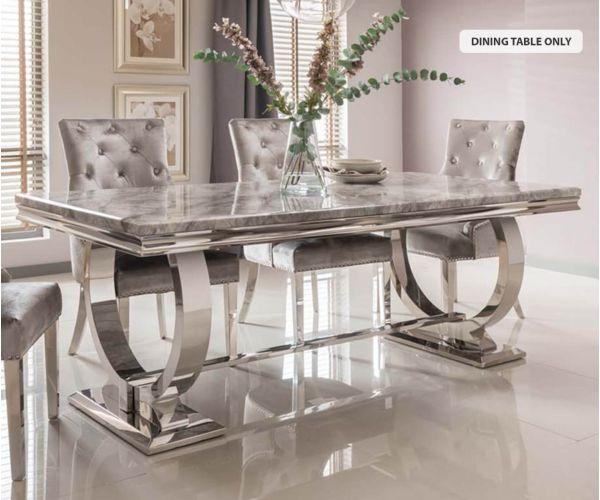 Vida Living Arianna Grey 200cm Dining Table only
