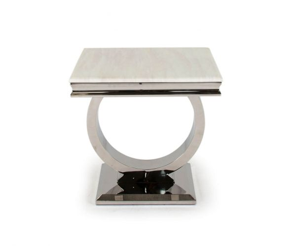 Vida Living Arianna Marble Top Lamp Table