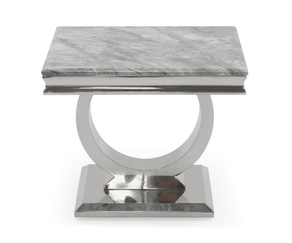 Vida Living Arianna Grey Low Lamp Table