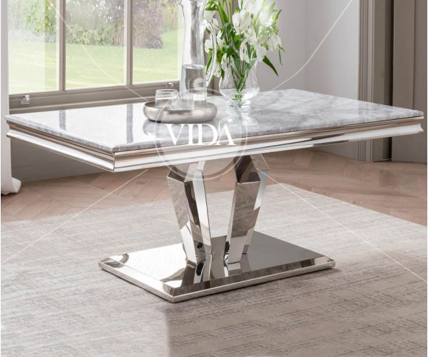 Vida Living Arturo Grey Marble Coffee Table