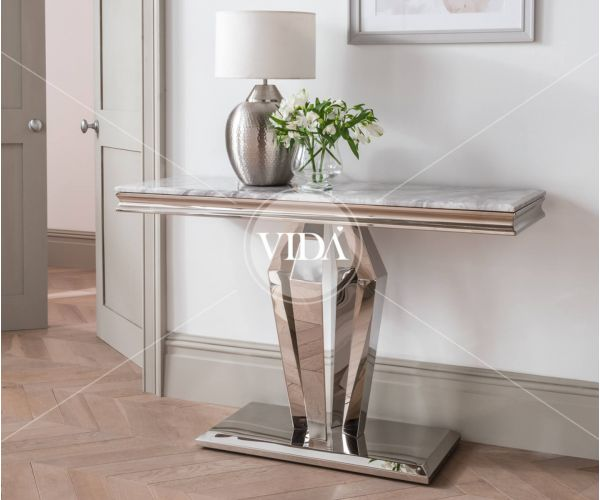 Vida Living Arturo Grey Marble Console Table