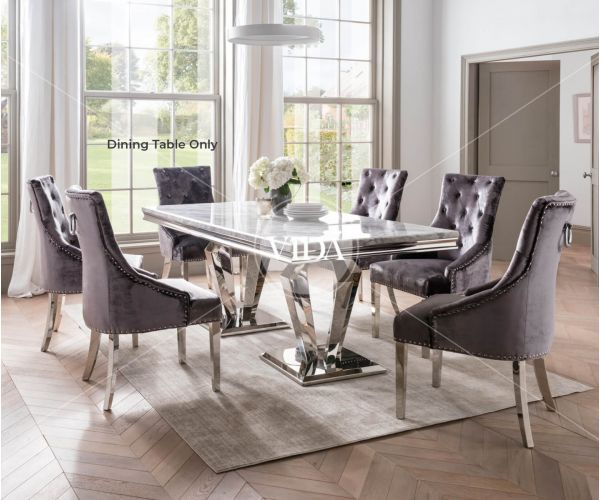 Vida Living Arturo Grey Marble Medium Dining Table