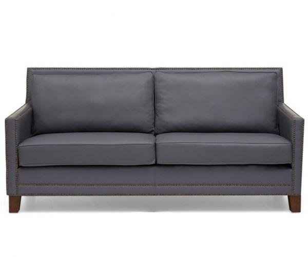 Mark Harris Arundel Grey Leather 3 Seater Sofa