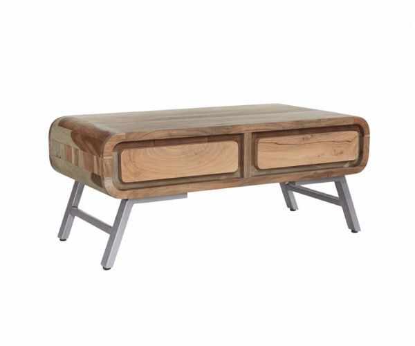 Indian Hub Aspen 2 Drawer Coffee Table