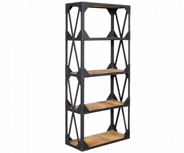 Indian Hub Ascot Industrial Large Bookcase