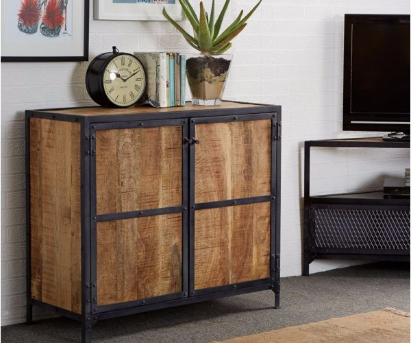 Indian Hub Ascot Industrial Small Sideboard