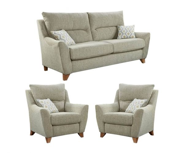 Lebus Asha High Back Fabric 3+1+1 Sofa Set