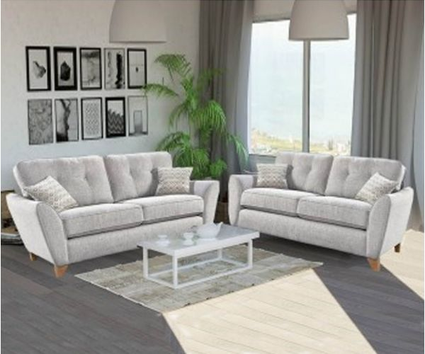 Lebus Ashley High Back Fabric 3+2 Sofa Set