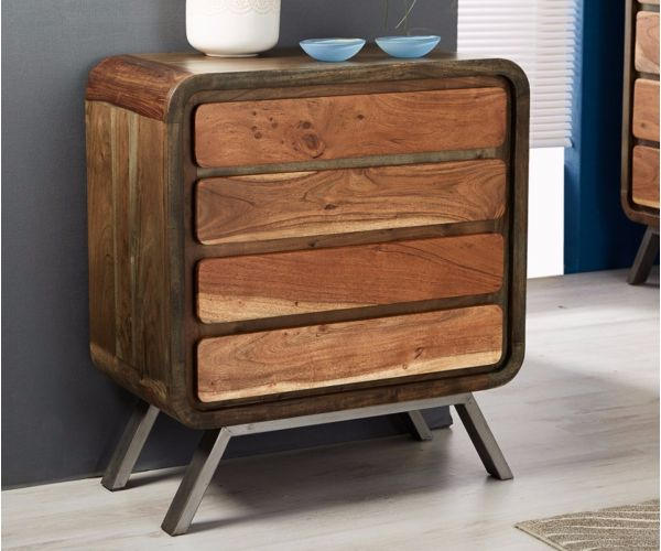 Indian Hub Aspen Wide 4 Drawer Chest
