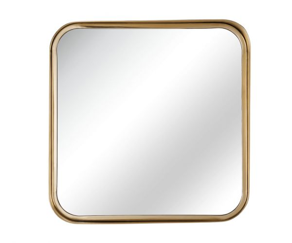 Serene Furnishings Assam Gold Square Wall Mirror