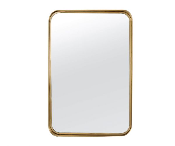 Serene Furnishings Assam Gold Rectangular Wall Mirror