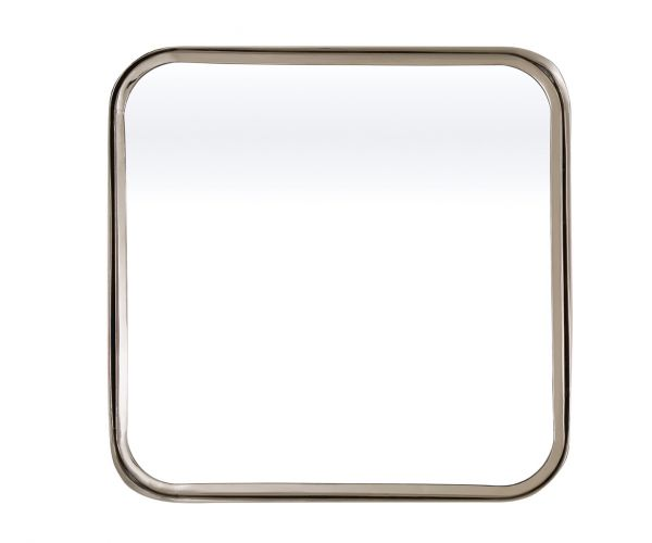 Serene Furnishings Assam Silver Square Wall Mirror
