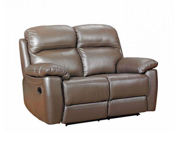 Furniture Link Aston Brown Leather 2 Seater Sofa
