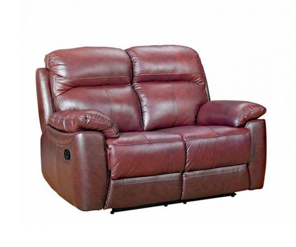 Furniture Link Aston Chestnut Leather 2 Seater Sofa