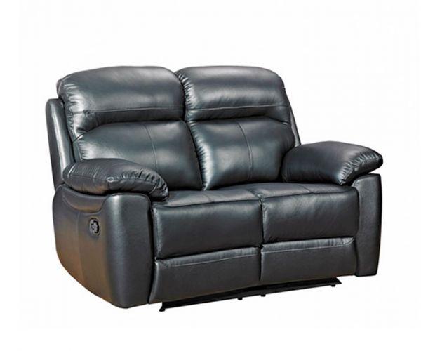 Furniture Link Aston Black Leather 2 Seater Sofa