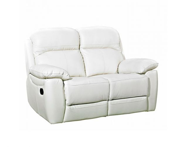 Furniture Link Aston Ivory Leather 2 Seater Sofa