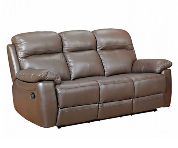 Furniture Link Aston Brown Leather 3 Seater Sofa