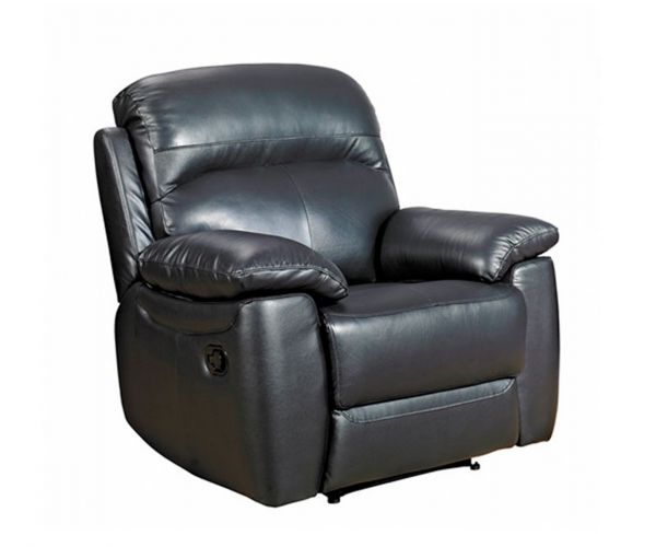 Furniture Link Aston Black Leather Armchair