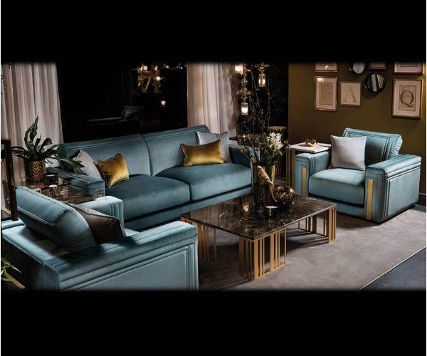 Adora Atmosfera Italian 3+1+1 Sofa Suite