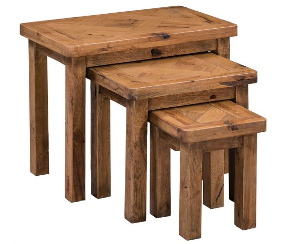 Homestyle GB Aztec Oak Nest Of Tables