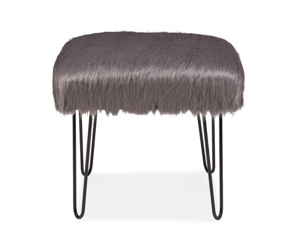 Derrys Furniture Sheepskin Grey Dressing Table Stool