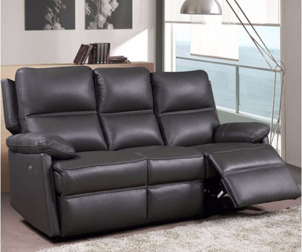 Furniture Link Bailey Leather 3 Seater Electric Recliner Sofa